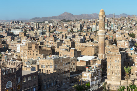 Architecture of the Old Town of Sanaa, Yemen.