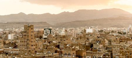 Architektur der Altstadt von Sana'a, Jemen. Standard-Bild - 92348900