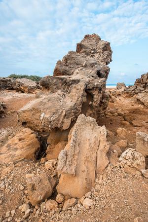 Stones, formations of the Socotra Island, Yemen