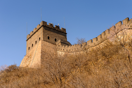 Fortress at the Great Wall of China. One of the Seven Wonders of the world. UNESCO World Heritage Site