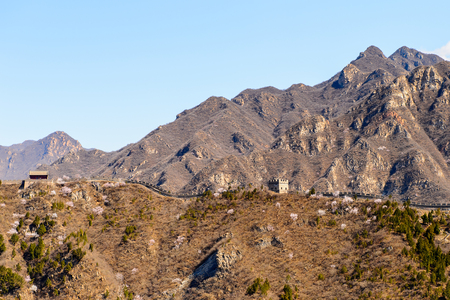 La Grande Muraille de Chine. Une des sept merveilles du monde. Banque d'images - 92272375