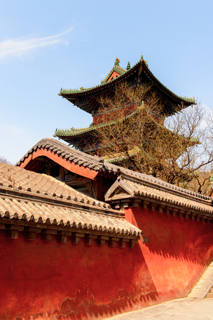 Pagoda at the Authentic Shaolin Monastery (Shaolin Temple), a Zen Buddhist temple.