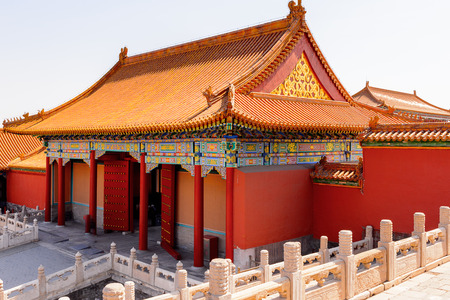 One of the Palaces of the Forbidden City, Palace Museum. Imperial Palaces of the Ming and Qing Dynasties in Beijing and Shenyang. UNESCO World Heritage