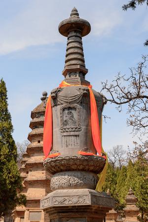Pagoda Forest at the Shaolin Monastery (Shaolin Temple), a Zen Buddhist temple.
