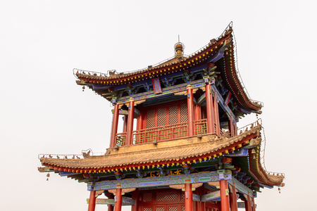 Pagoda on the Xian City Wall. Fortifications of Xi'an and Xi'an City Wall.