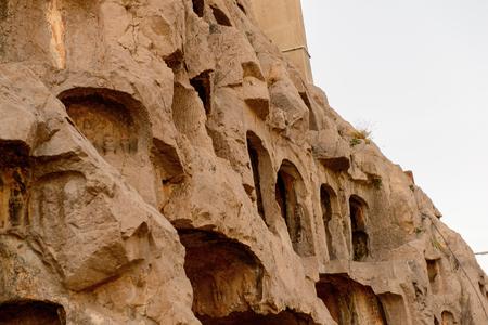 Longmen Grottoes ( Dragons Gate Grottoes) or Longmen Caves. Stock Photo