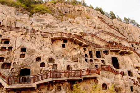 Longmen Grottoes ( Dragons Gate Grottoes) or Longmen Caves. Standard-Bild