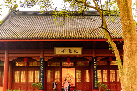One of the Buddha pagodas at the Lingyin Temple (Temple of the Souls Retreat) complex. One of the largest Buddhist temples in China