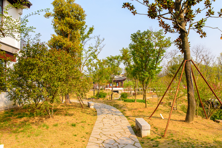 Tiger hill in Suzhou, China. It is known for its natural beauty as well as historical sites.