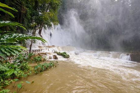 Kouang Si Waterfall in Laos, Asia