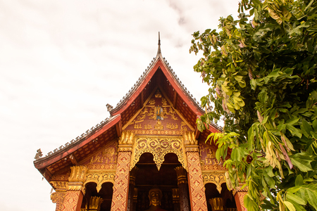 Vat sen, one of the Buddha complexes in Luang Prabang which is the UNESCO World Heritage city Stock Photo