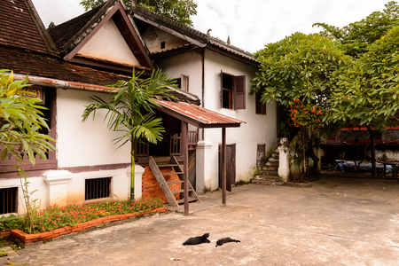 Part of the Vat sen complex , one of the Buddha complexes in Luang Prabang Stock Photo