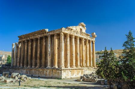 The Temple of Bacchus in Baalbek in Lebanon. 写真素材
