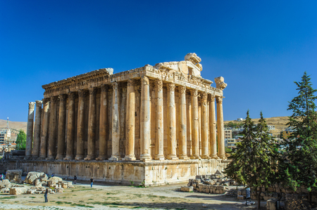 The Temple of Bacchus in Baalbek in Lebanon. Фото со стока