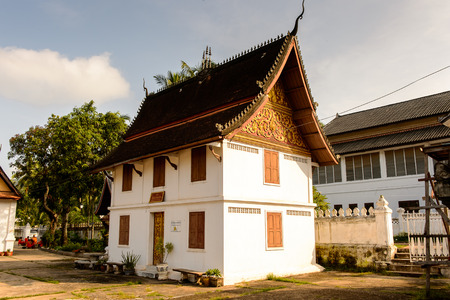 Vatmay Souvannapoumaram temple complex, one of the Buddha complexes in Luang Prabang