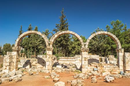 Arch of the Ruins of the Umayyad city of Anjar, Lebanon