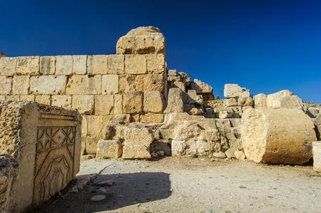 Ruines romaines de Baalbek, Liban. Héliopolis, la ville du soleil Banque d'images - 92679804