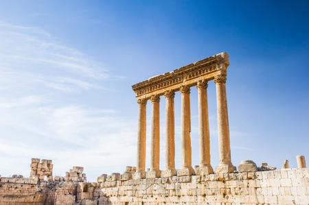 Tempio di Giove di Baalbek, Libano Archivio Fotografico