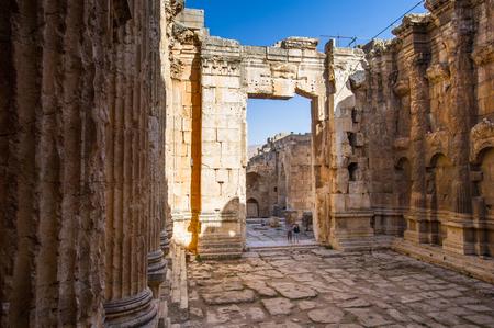 Ancient ruins of Baalbek, Lebanon Banco de Imagens