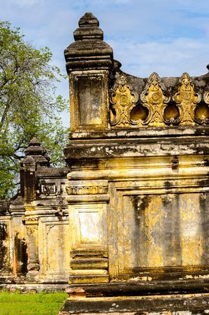 Maha Aung Mye Bom San Monastery complex, Inwa, Mandalay Region, Burma. It was built in 1818 Stock Photo