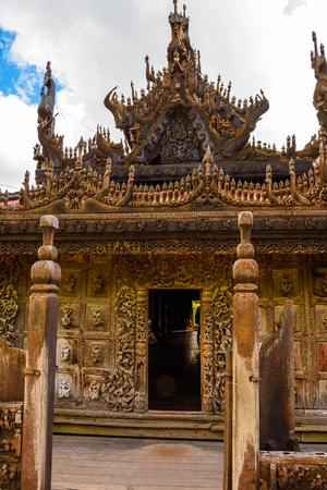 Shwenandaw Monastery (Golden Palace Monastery), a historic Buddhist monastery located in Mandalay Region, Myanmar Stock Photo