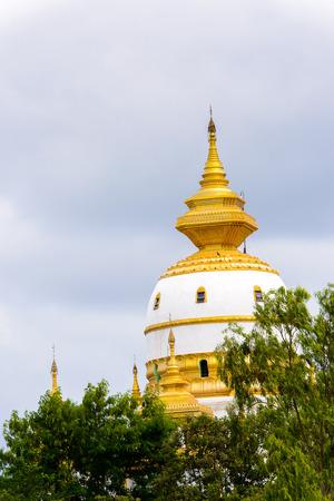 Aung Sakkya Pagoda Maha Bodhi Ta Htaung (a thousand great Bo trees), a famous Buddhist region and monastery, Monywa Township, Sagaing Area, Myanmar (Burma)