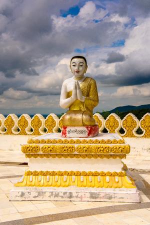 Maha Bodhi Ta Htaung ('a thousand great Bo trees'), a famous Buddhist region and monastery, Monywa Township, Sagaing Area, Myanmar (Burma) Stok Fotoğraf