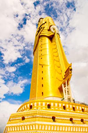Giant standing Buddha at the Maha Bodhi Ta Htaung, a famous Buddhist region and monastery, Monywa Township, Sagaing Area, Myanmar (Burma) Stock Photo