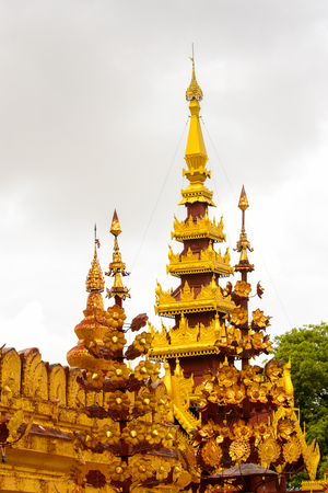 Shwezigon Pagoda, Bagan Archaeological Zone, Burma. One of the main sites of Myanmar.