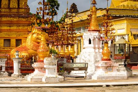 Shwezigon Pagoda, Bagan Archaeological Zone, Burma. One of the main sites of Myanmar.