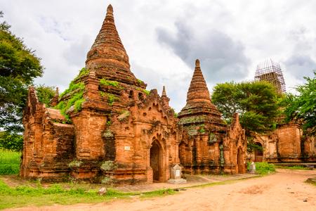 Payathonzu Temple, Bagan Archaeological Zone, Burma. One of the main sites of Myanmar.