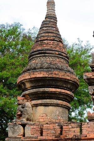 Temple of the Bagan Archaeological Zone, Burma. One of the main sites of Myanmar. Stock Photo