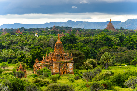 Beautiful of the Bagan Archaeological Zone, Burma. One of the main sites of Myanmar.
