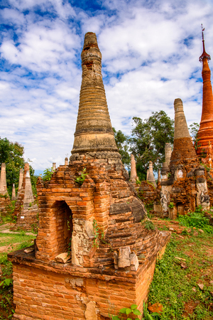 Shwe Indein Pagoda, a group of Buddhist pagodas in the village of Indein, near Ywama and Inlay Lake in Shan State, Burma