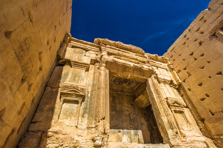Temple of Bel , an ancient stone ruin located in Palmyra, Syria. Imagens