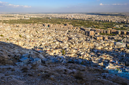 Damascus (City of Jasmine), the capital and the second largest city of Syria after Aleppo.