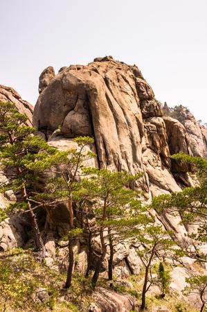 Landscape of the Mount Kumgang (Diamond Mountain) of the Mount Kumgang Tourist Region in North Korea