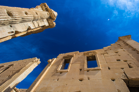 Columns of the ruins of Syrian town Palmyra,