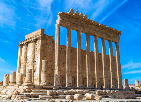 Greco-Roman ruins of Palmyra, Syria. Stock Photo