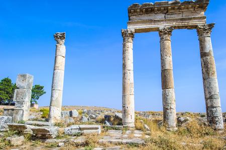 Colums of Apamea, Syria Stock Photo