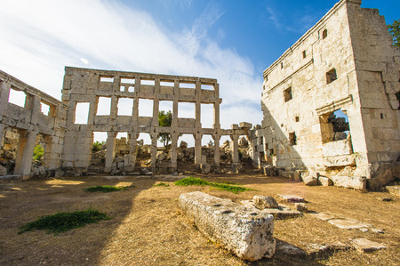 Ruins which represent the ancient Syria Stock Photo