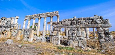 Great Colonnade at Apamea, the main colonnaded avenue of the ancient city of Apamea in the Orontes River valley in northwestern Syria.