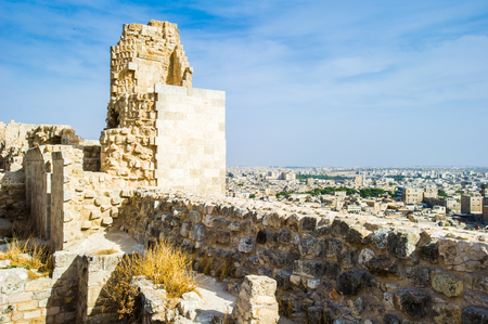 Ancient architecture of the Old City of Aleppo, Syria Stock Photo