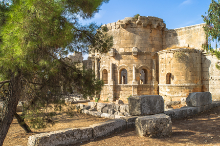 Rests of an ancient castle of Syria