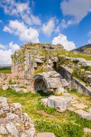 Ancient theater in Limyra, Turkey.