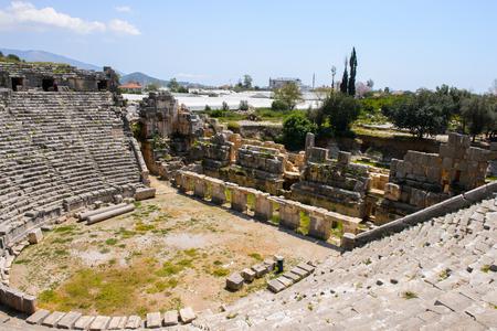 Ancient theater, Myra, Turkey Stock Photo
