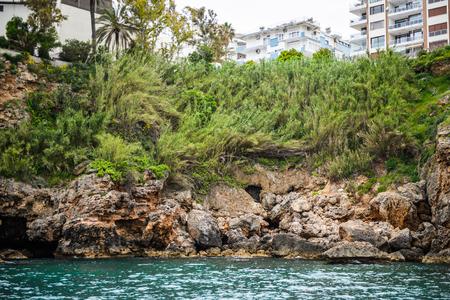 Rocks near the historic town of Antalya, Turkey 版權商用圖片