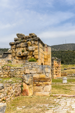 Martyrion of Saint Philip, ancient ruins in Hierapolis, Pamukkale, Turkey. Stock Photo