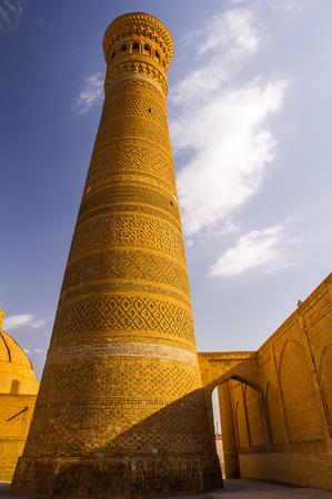 Mir-i Arab Madrasah entrance, Historic centre of Bukhara, Uzbekistan