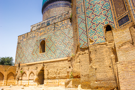 Bibi-Khanym Mausoleum, Samarkand, Crossroad of Culture, Stock Photo